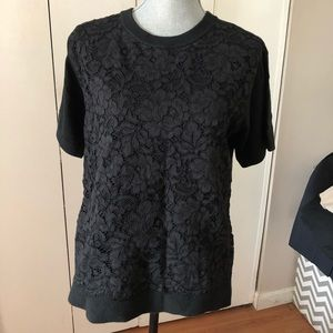 NWT.   KATE SPADE SHIRT WITH FLORAL LACE
